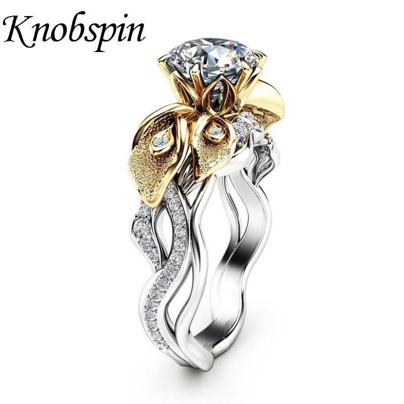 Charm Ladies Leaves Engagement Rings with AAA Zircon Anniversary Wedding Ring for Women Party Jewelry US Size 6-10 bague femme