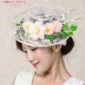 Новое руководство моделирование цветы свадебный головной убор шляпа Континентальный свежий кружева свадебная фотография аксессуары
