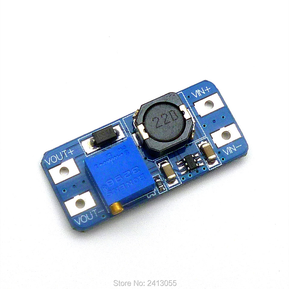 MT3608 2A Max DC-DC Step Up Power Module Booster Power Module For Arduino 3-5V To 5V/9V/12V/24V