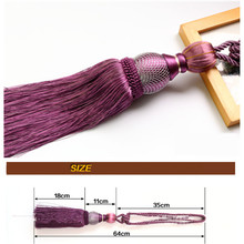 2pcs Pair Curtain Accessory Hanging Belt Ball Curtain Tassel Tieback