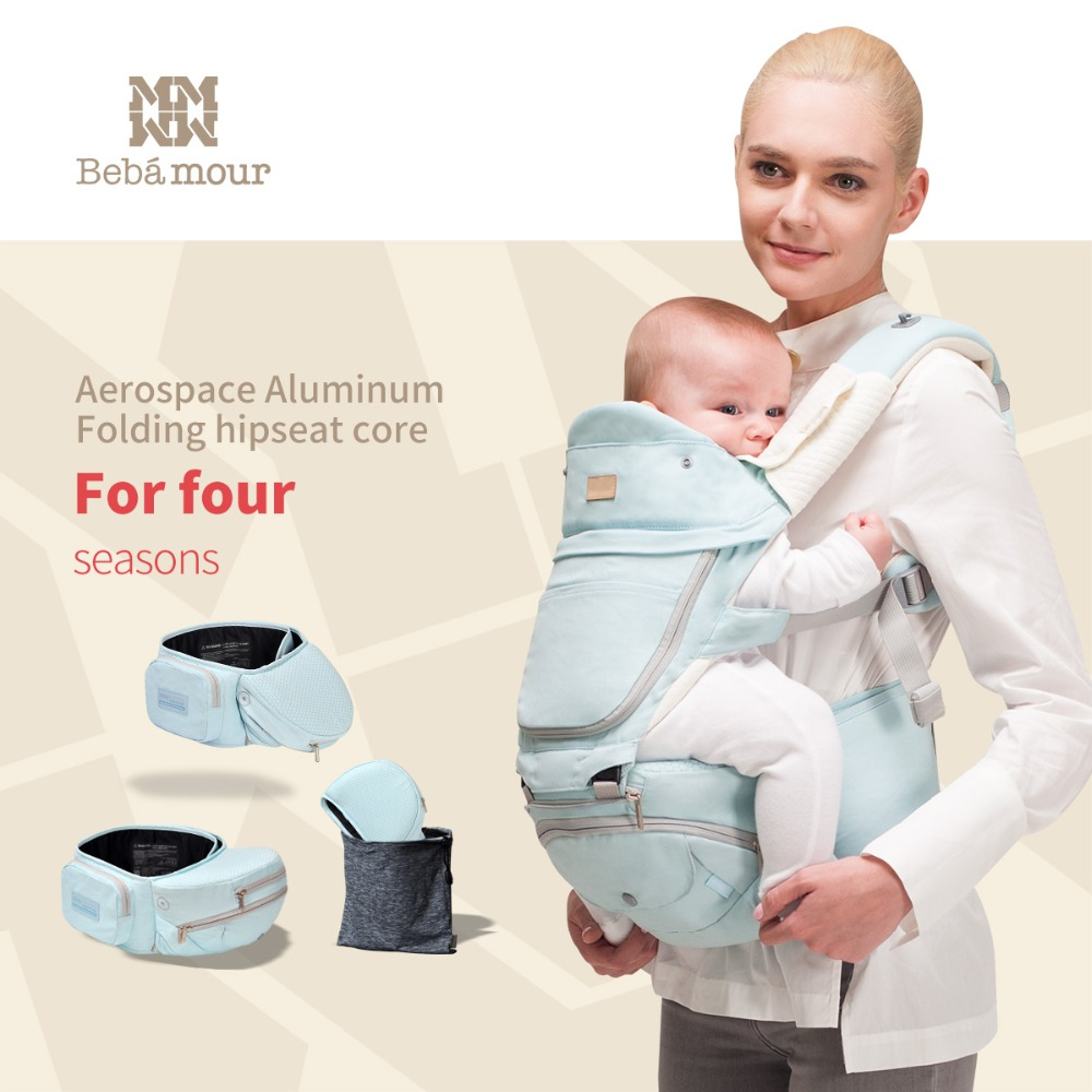 Bebamour 360 Multifunctional Baby Carrier 6-in-One Designer Sling Foldable Hipseat Manduca Babies Wrap Backpack for Newborns high quality baby carriers babies carrier hipseat fashion pure cotton baby backpack with dismountable large space mom bag