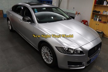 Best Quality Matte Silver Pearl Metal Vinyl Wrap Film Bubble Free Vehicle Wraps