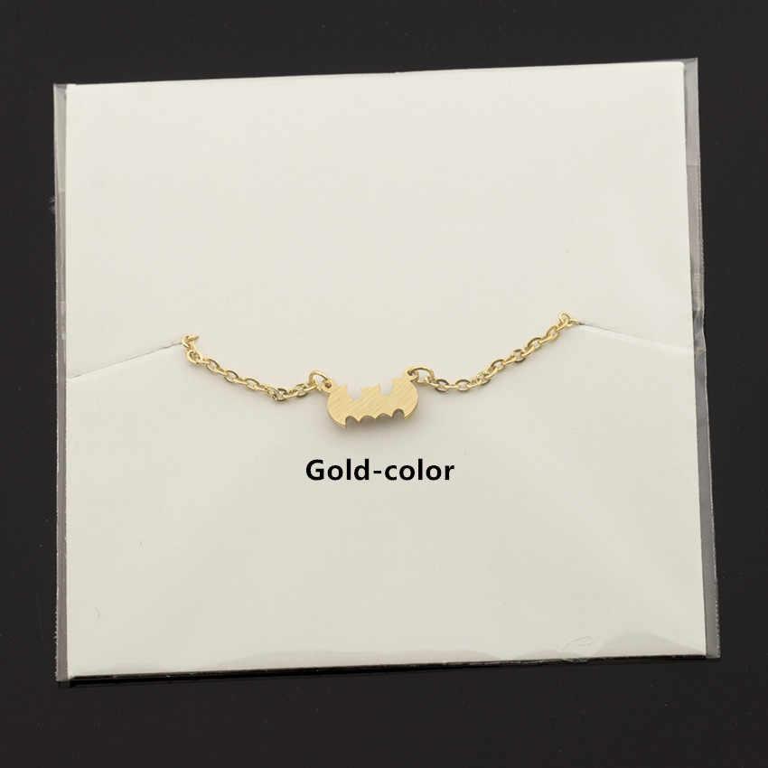 Trendy ze stali nierdzewnej mężczyzn biżuteria Batman bransoletka złoty kolor srebrny śliczne zwierząt Bat Man łańcuch bransoletki bransoletki Bracciali Donna