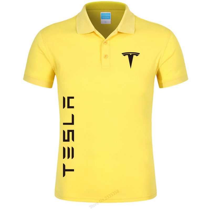 0a135c75 ... 2019 Men's colors tesla polo shirts casual men's short-sleeved tesla  motors polo shirt brand