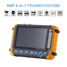 CCTV Tester Monitor IV8W 5 inch 5MP TVI AHD CVI CVBS Security Camera tester support PTZ lcd cctv monitor HDMI camera tester