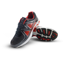Sports Running Men Shoes Outdoor Rubber Elastic Splicing leather Breathable Air mesh letter Comfortable Shoes