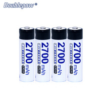 4pcs Lot Doublepow DP 2700mA 1 2V 2700mA Ni MH Rechargeable Battery In Strong Power Full