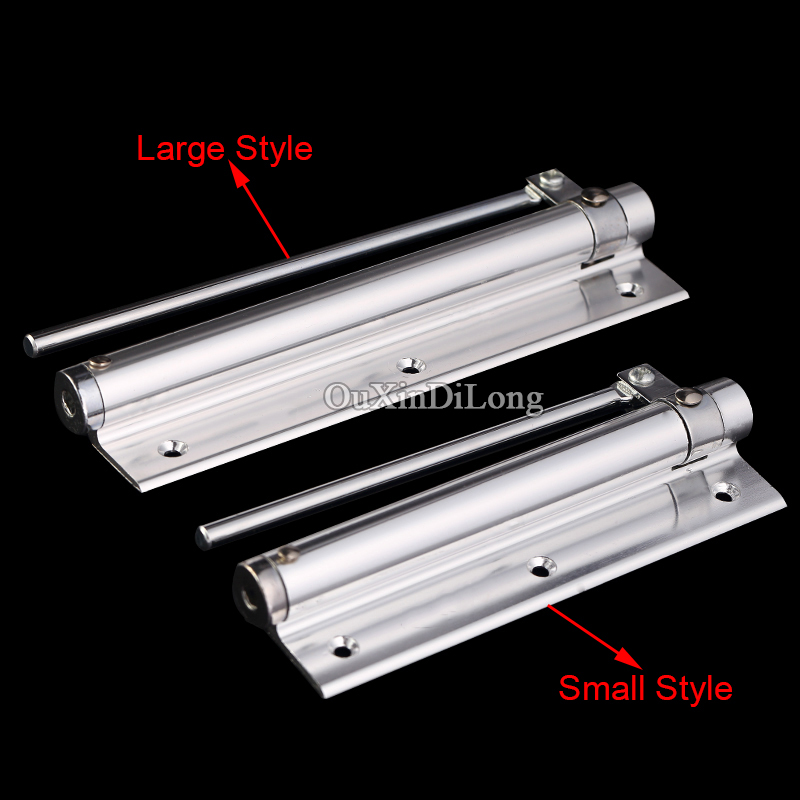 NEW Aluminum Alloy Single Spring Auto Closing Door Closer Invisible Door Automatic Door Closer Strength Adjustable Large Style 1 pair viborg sus304 stainless steel heavy duty self closing invisible spring closer door hinge invisible hinges jv4 gs58b