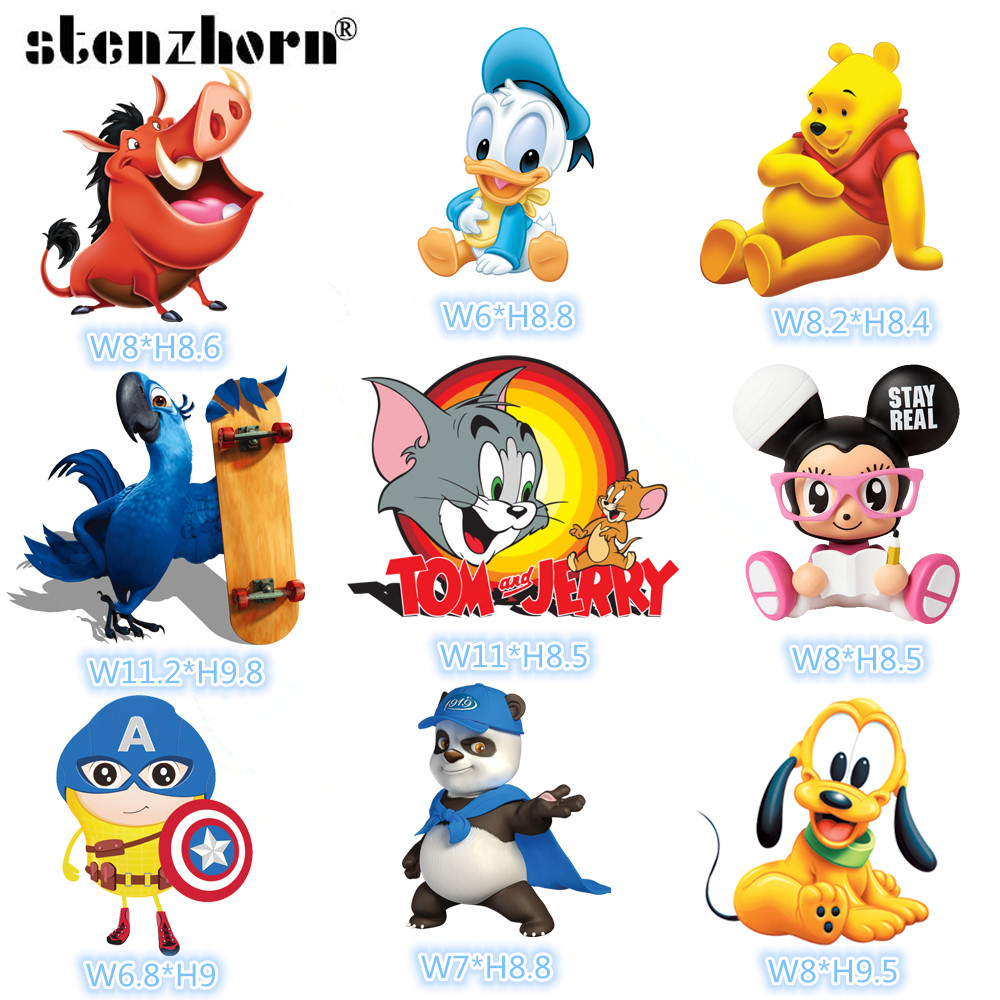 1pc cartoon Cat Mouse Tom Jerry Dog Duck Iron On Patches For Clothing Heat Transfers For Kids Child Clothes Diy Ironing Sticker High Quality And Low Overhead Systematic