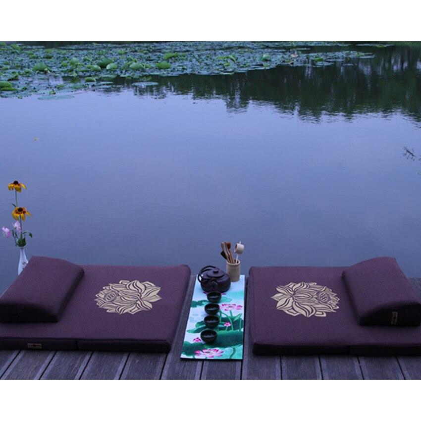 Coussin de méditation pliant coussin de palmier extérieur grand tapis grand tapis de culte coussin de méditation mandala oreillers de sol