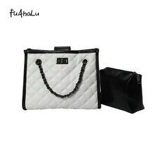 FuAhaLu New tide rhombic chain female bag Korean version of the wild shoulder fashion large capacity Messenger