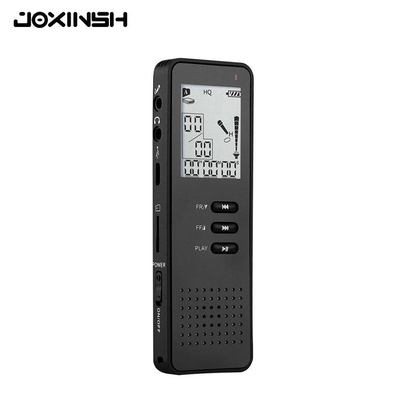 Digital Voice Recorder 8 Gb Diktiergerät Professionelle Tragbare Sound Audio Recorder Mit Mp3 Player/tf Karte Zu 64 Gb Schwarz Unterhaltungselektronik Tragbares Audio & Video