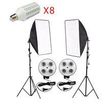 Photography Light Photo Studio Kit 8PCS 20W E27 LED Corn Lamp Bulbs Softbox Light Box Light