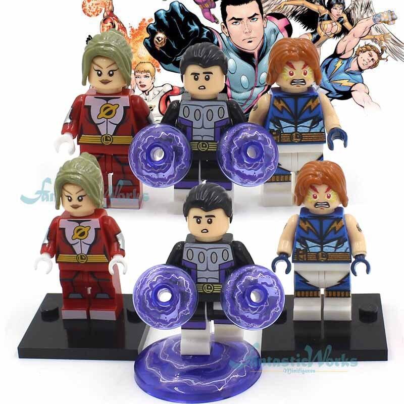 <font><b>DC</b></font> Legion of <font><b>Super</b></font>-<font><b>Heroes</b></font> Cosmic Boy Saturn <font><b>Girl</b></font> Lightning Lad <font><b>Super</b></font> <font><b>Heroes</b></font> Mini <font><b>Action</b></font> Figures Building Blocks Toys