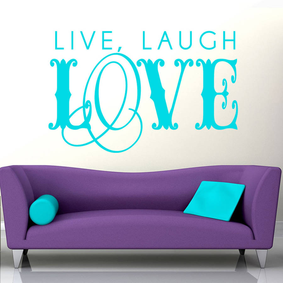 Quotes On Sofa Us 4 98 25 Off Inspire Home Decoration Large Swirling Live Laugh Love Wall Sticker Quotes For Living Room Sofa Background Removable Decal Za714 In