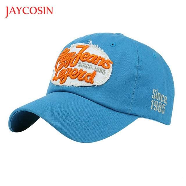 7a2036408db JAYCOSIN baseball cap Casual hat Women Men popular Letters Denim Baseball  Cap Snapback Hip Hop Flat Hat gloves FEB8