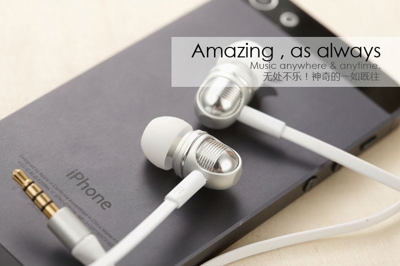 Wallytech S801 Stereo metal in-ear earphone For Apple iOS earpods For iPhone/Samsung/HTC/Blackberry/iPad/Xiaomi
