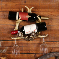 Żywica rzemiosło jelenie wino Wino stojak na wino kreatywny ręcznie ramki Wyposażenia Domu miękkie dekoracji zwierząt codziennie stojak na wino