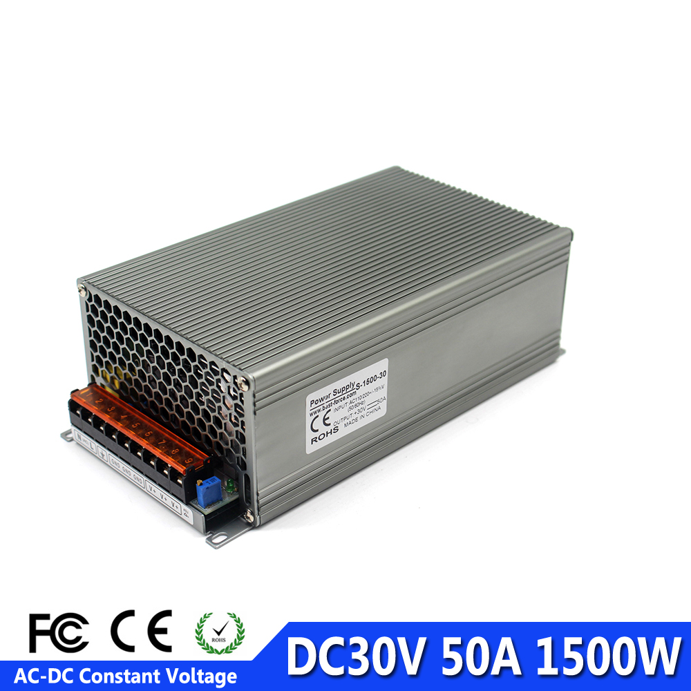 DC30V Power Source 50A 1500W Transformer 220V 110V AC to DC 30V Switch Power Supply Adapter