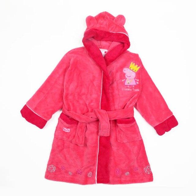 Peppa pig hot pink bathrobe night gown dressing sleep wear robes on ...