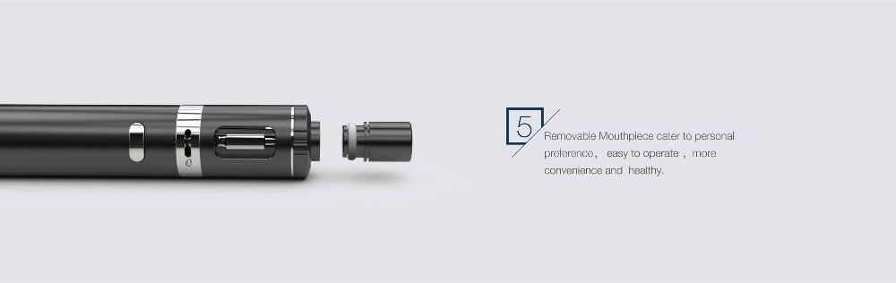E cigarette vape Solo Mini kit Vape Pen Built-in 650mah mod W All-in-one Fashionable Tank 0.8ohm Leak-proof Top Filling 2.0ml 10
