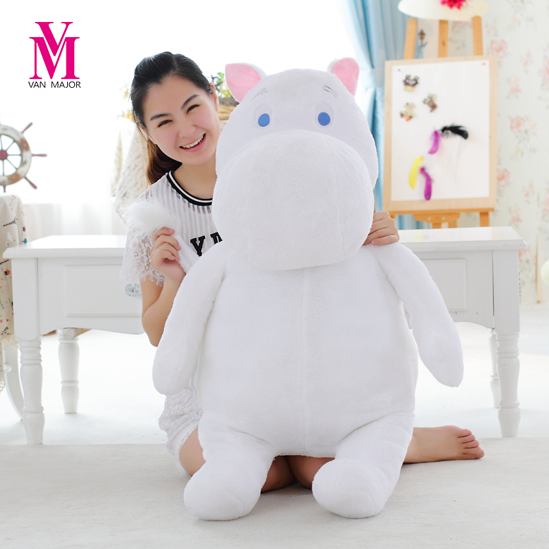 Vanmajor  60cm Moomin Hippo Plush Toy Stuffed Doll Little Fertilizer Valentine Park Spring Bom Free Shipping the huge lovely hippo toy plush doll cartoon hippo doll gift toy about 160cm pink