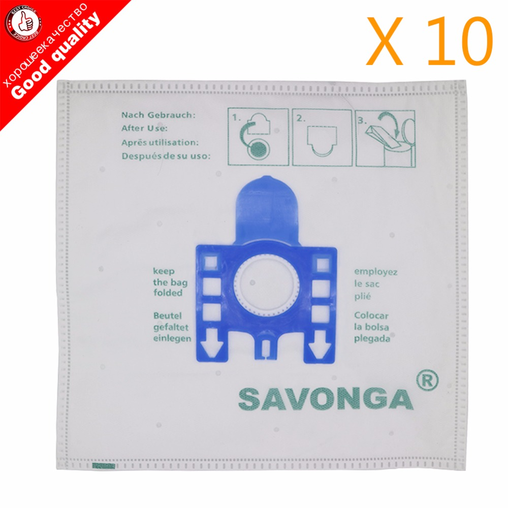 10 x 3D tipo Hyclean Gn Hoover sacchetti per Miele S5210 S5211 S5261 TT5000 vuoto