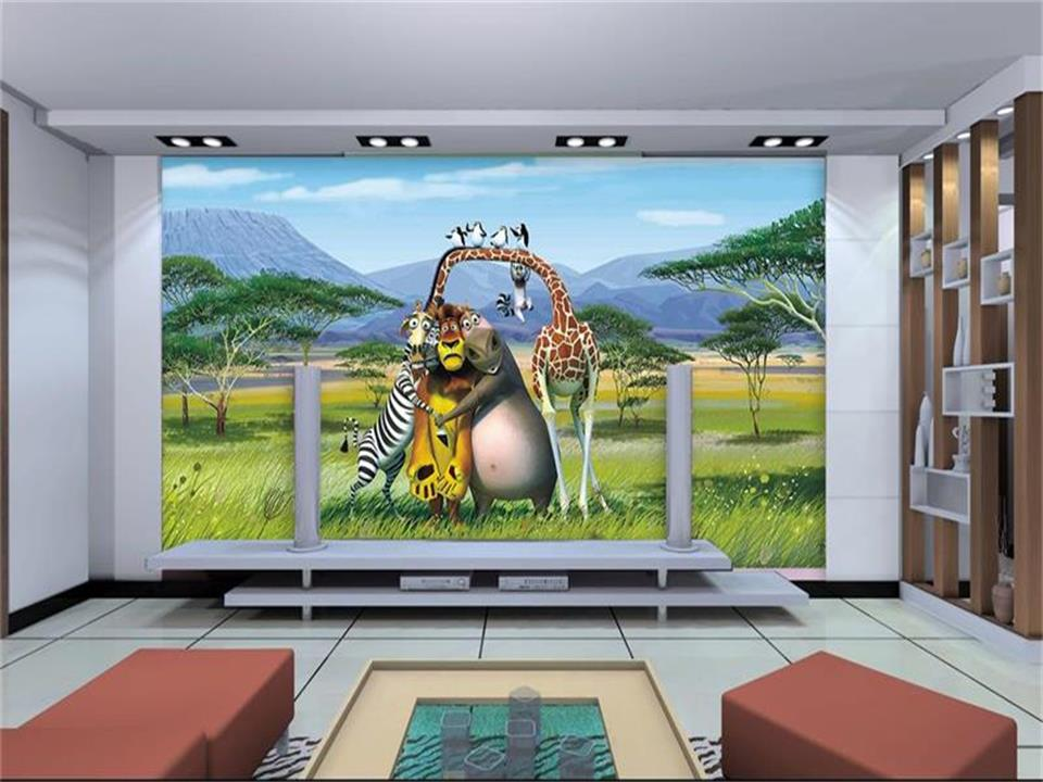 3d wallpaper photo wallpaper custom mural living room Madagascar animation 3d painting sofa TV background wallpaper for wall 3d wdbh custom mural 3d photo wallpaper gym sexy black and white photo tv background wall 3d wall murals wallpaper for living room