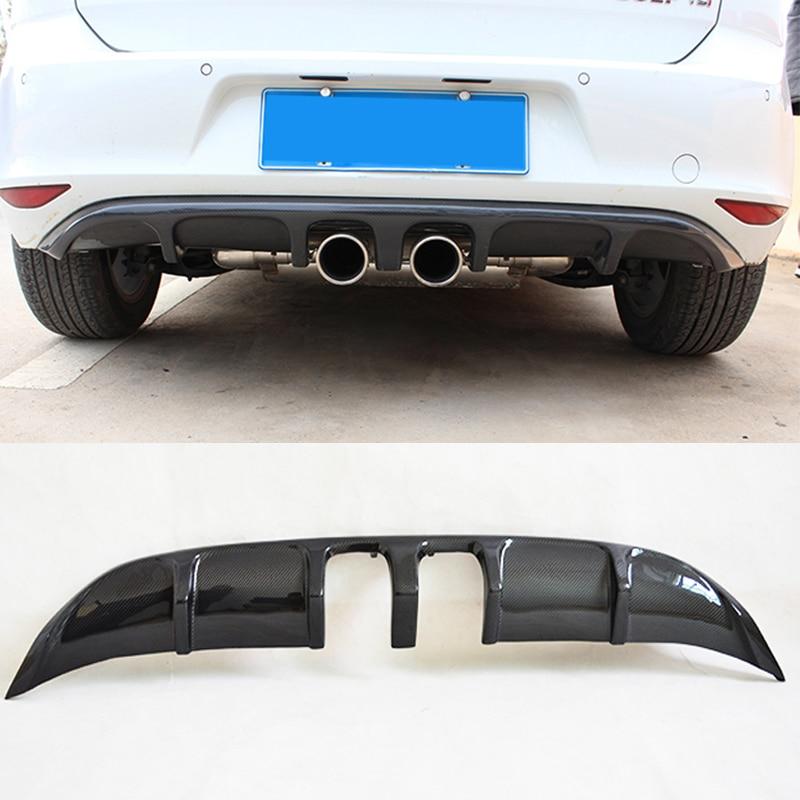 golf 7 mk7 carbon fiber r style rear bumper lip diffuser. Black Bedroom Furniture Sets. Home Design Ideas