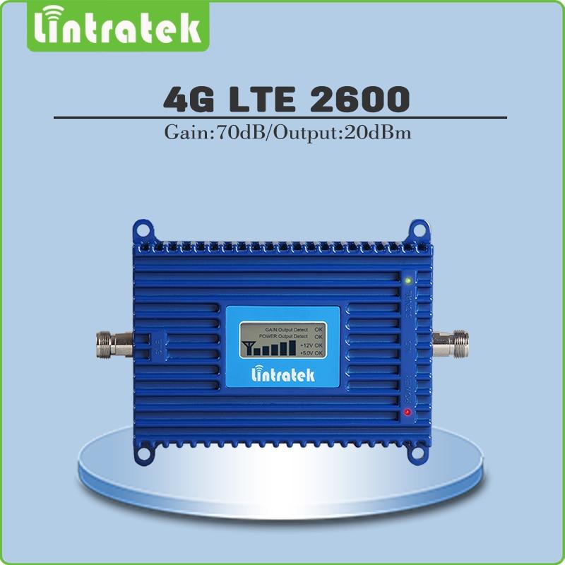 Ganho de 70dB 4G LTE 2600 Mhz Sinal de Celular Repetidor 4G LTE 2600 Mhz (FDD Banda 7) Cell Phone Signal Booster/Amplificador com display Lcd