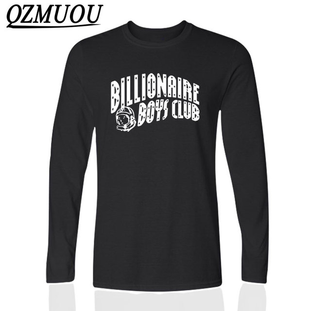 Новая Мода Миллиардер Boy Club Футболка BBC Майка Мужчины Хип-хоп Майка О Шеи Хлопка С Длинным Рукавом Миллиардер Футболка Плюс Размер