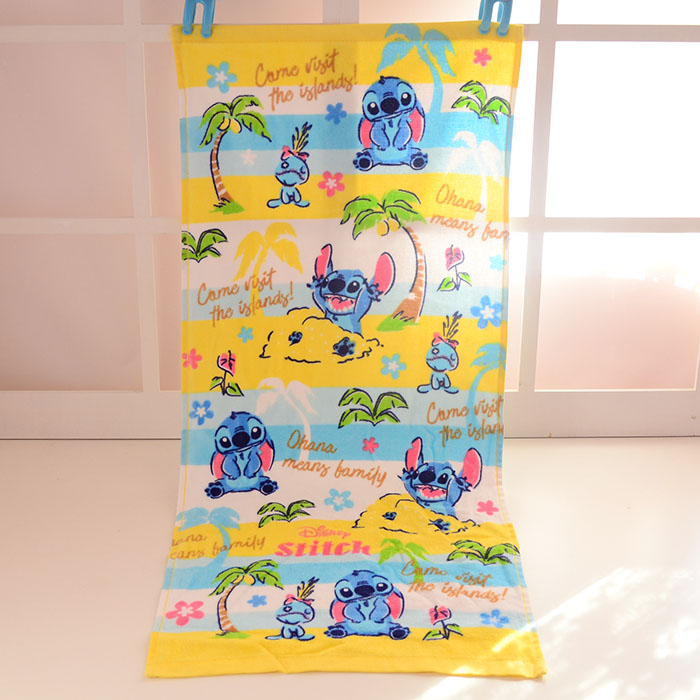 New Donald Duck Stitch Baby Handkerchief Printed Cotton Towel Kids Gifts Children Portable Towels 35*75CM zakdoek