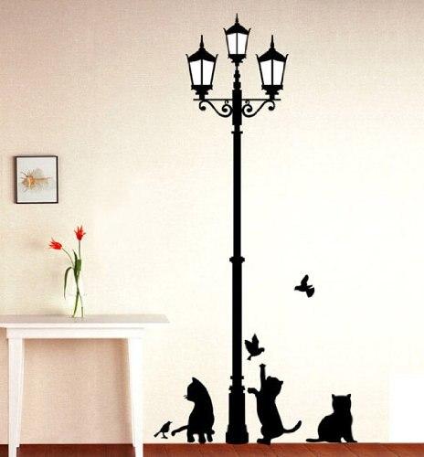 Home Decor Black Cat Design Picture Art L Stick Wall Sticker Diy Vinyl Decal
