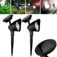 Fashion Luxury LED Solar Garden Lamp Spot Light Outdoor Lawn Landscape Spotlight Light Party Supplies