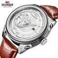 GUANQIN new men's watch men waterproof Quartz watches men classic business Wristwatch relogio masculino