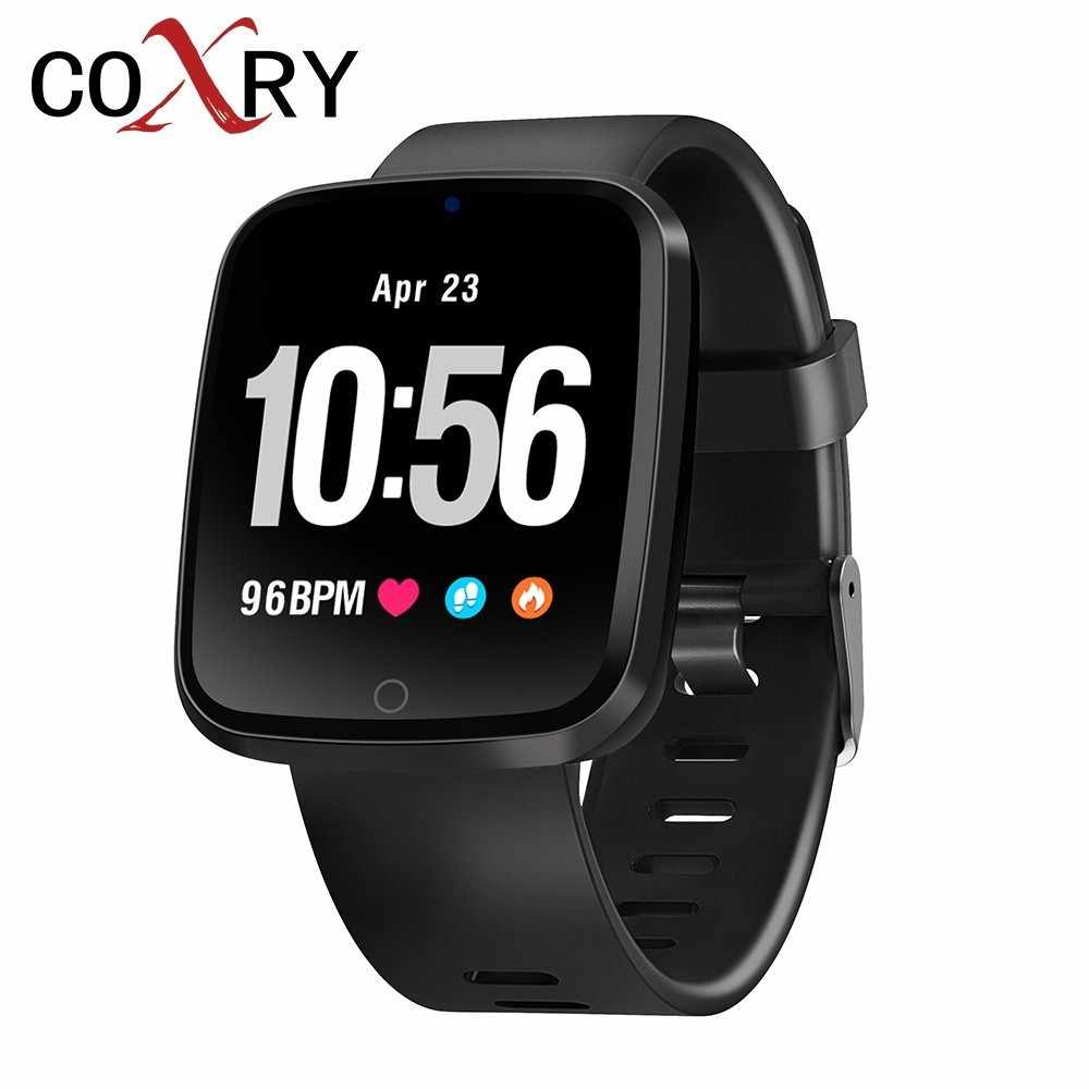 COXRY Color Screen Smart Watch Sport Men Watches Blood Pressure Pedometer Tracker Digital Watch Women Smartwatch For IOS Android