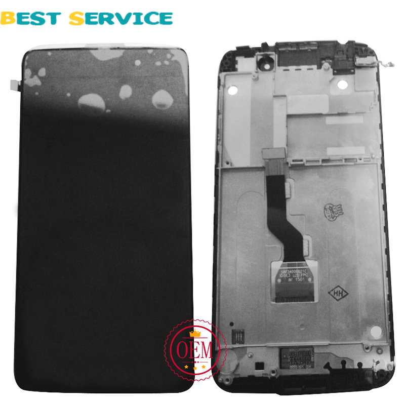 Original LCD For Alcatel One Touch Idol 3 6039 OT6039 LCD Display with Touch Screen Digitizer with Frame Assembly Black