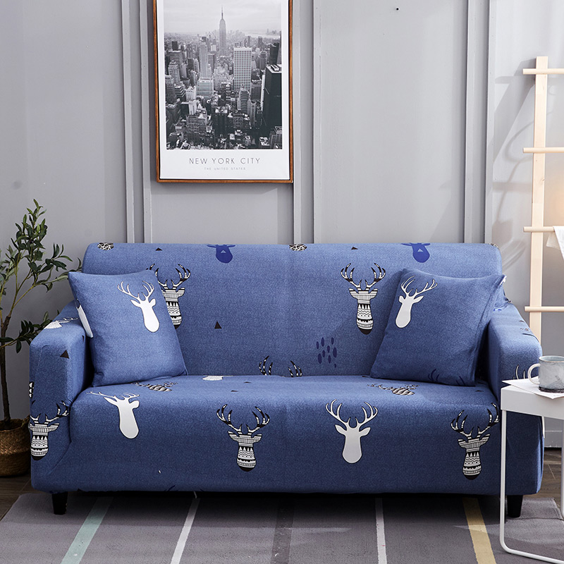 1pc Leaf and Flower Printed Sofa Cover Made of Polyester and Spandex Fabric for L Shaped and Corner Sofa 22