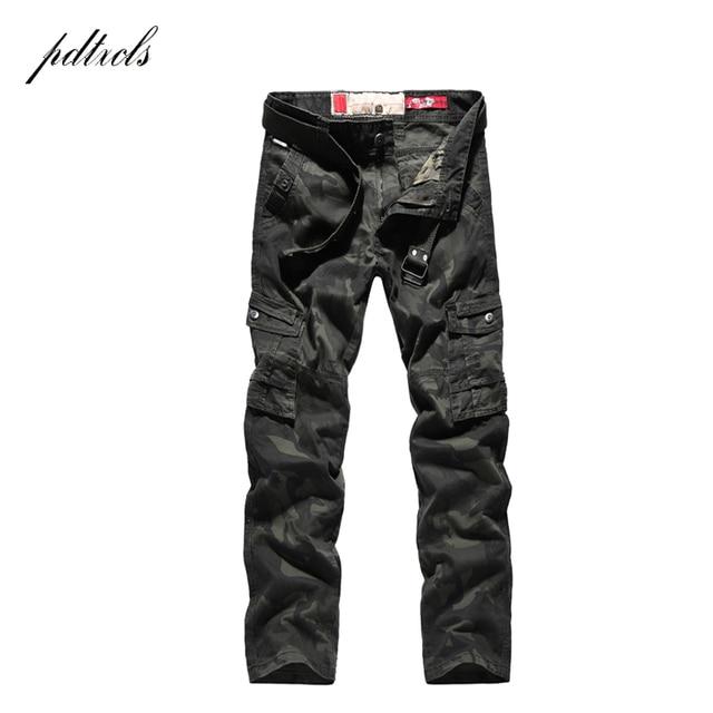 PDTXCLS  Spring New Cargo Pants Men Cotton Tactical Trousers Men Work Mens Trousers Overalls Pantalon Homme Verion camouflage 31