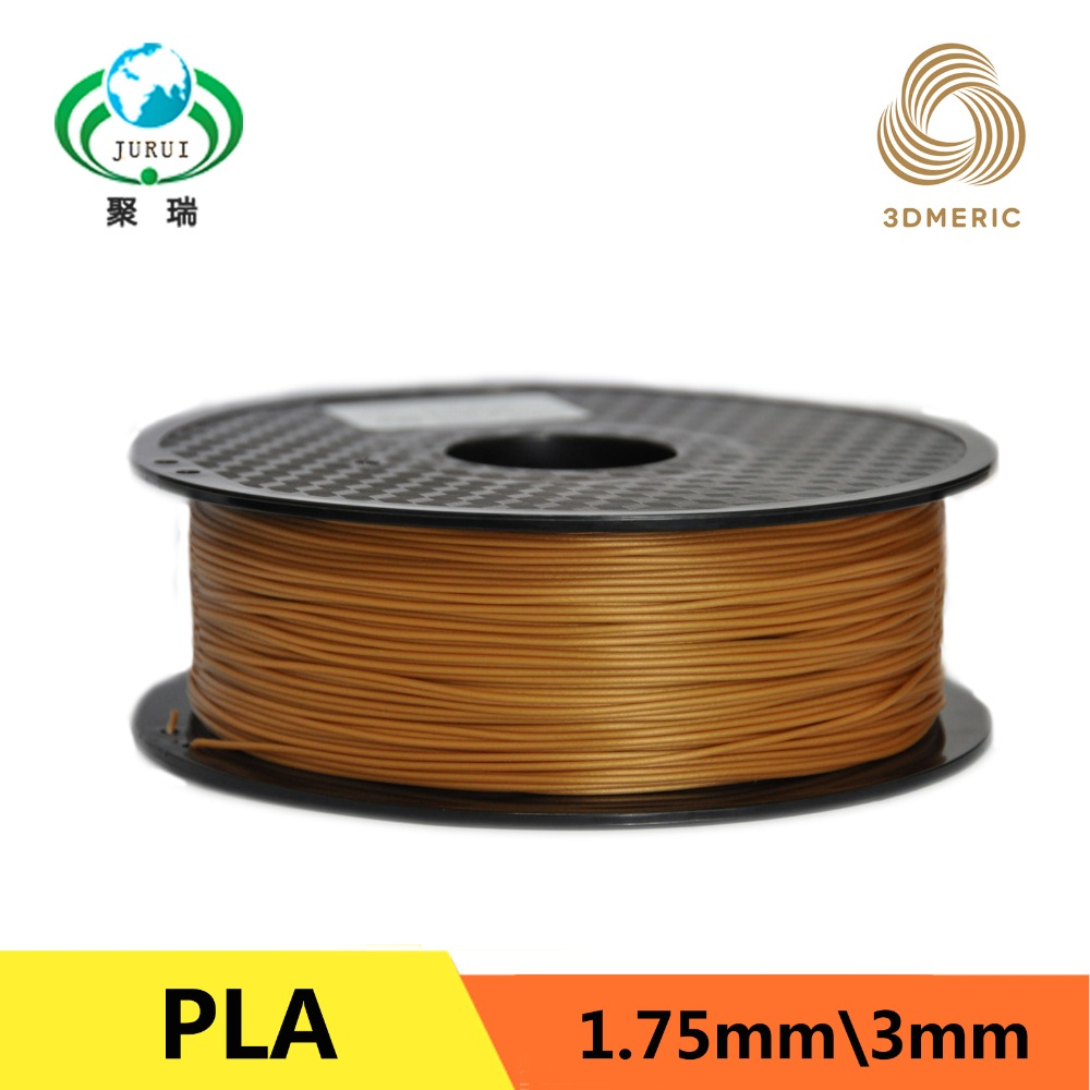 Gold color PLA filament 3d pen impressora 3d pla 1.75 mm 3d plastic filament 3d printer filament 1kg 3d printer filament 1kg 2 2lb 3mm pla plastic for mendel white