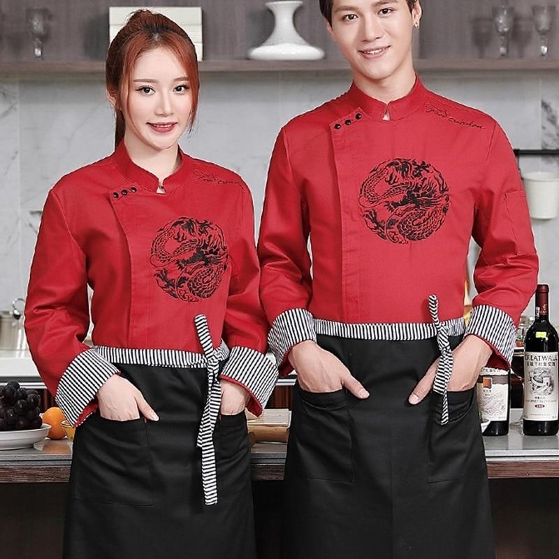 Veste de Chef uniforme pour les restaurants, uniforme pour les restaurants chinoises veste de cuisine vêtements de chef combinaison de cuisine