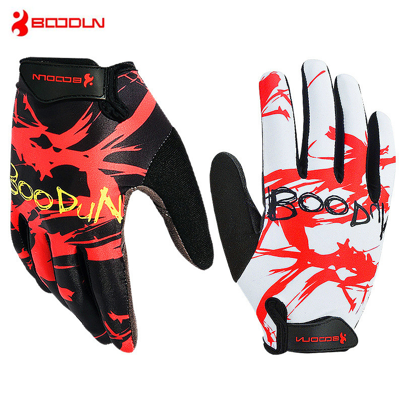 BOODUN Summer Breathable Full Finger Cycling Gloves MTB Road Bike Bicycle Gloves Outdoor Sport Fitness Gloves Bike Accessories batfox women cycling gloves female fitness sport gloves half finger mtb bike glove road bike bicycle gloves bicycle accessories