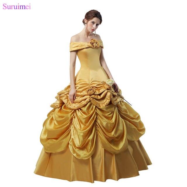 Online Shop Latest Design Ball Gown Prom Dresses Handmade Flowers ...