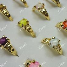 300 шт Модные Акриловые классические золотые кольца для женщин