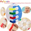 Aelorxin Блокировка от Детей Защита Детей Замок Двери/drawerfor детская Безопасность Детей Безопасности Пластиковые Lock для Ребенок