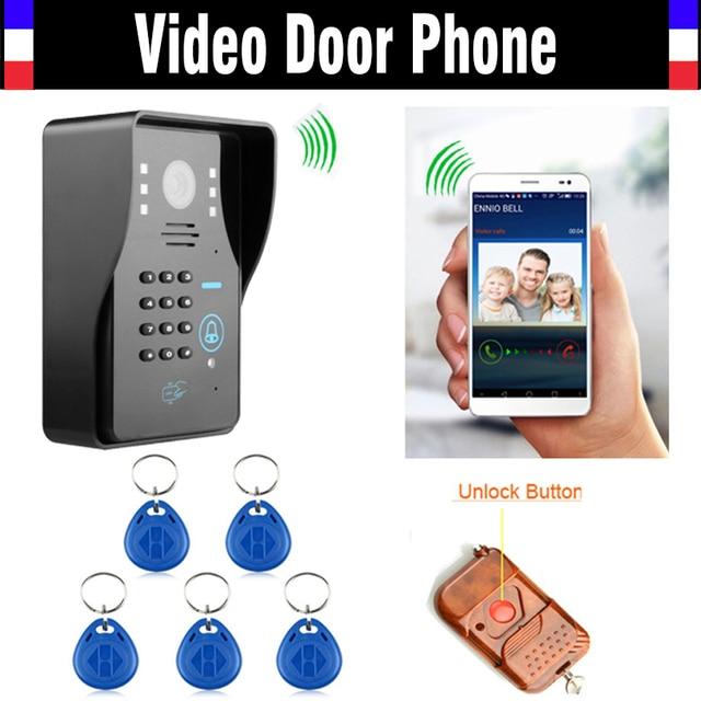 Wireless Wifi IP Digital Video doorbell Door Phone Intercom RFID Code Keypad Remote Control Waterproof Night Vision Doorphone