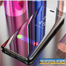 Luxury Mirror Leather Case For Huawei Nova 3 4 3i P Smart Plus Y5 Y7 Prime 2018 Y9 2019 Ho