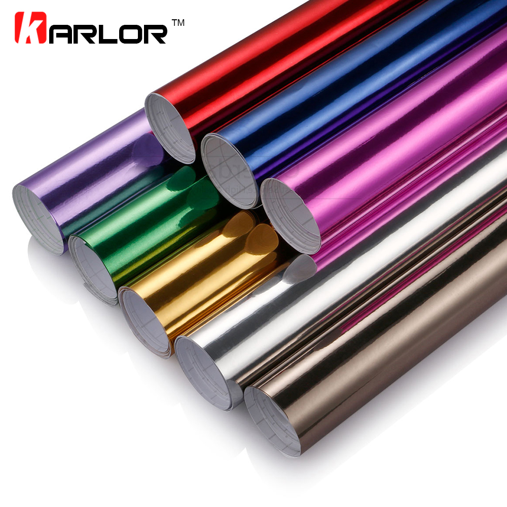 100*30CM Chrome Mirror Vinyl Film Foil Car Sticker DIY Wrapping Sheet Decal Automobiles Motorcycle Truck Car Styling Accessories rus russia country code oval jdm reflective vinyl sticker lettering car truck bumper decal motocross motorcycle aufkleber