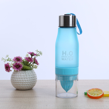 New Xmas Gift 650ml Water Bottle plastic Fruit infusion bottle Infuser Drink