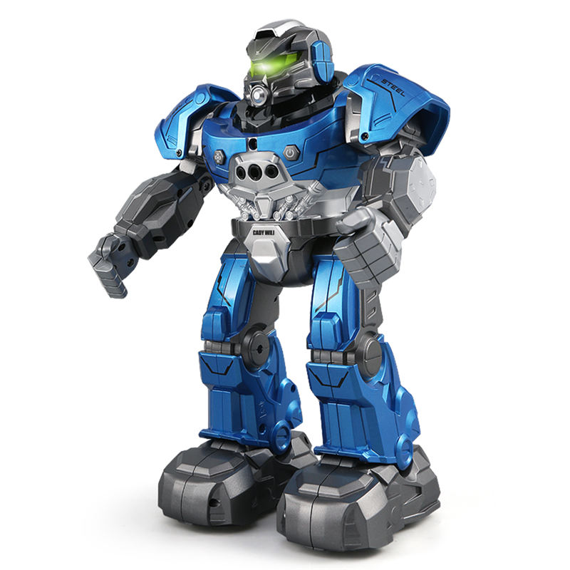 JJRC R5 CADY WIL Intelligent RC Robot Auto Follow Smartwatch Gesture Music Dance Program Toys Early Education for Kids Boys Gift jjr c r5 cady wili intelligent robot remote control programmable auto follow gesture sensor music dance rc robot toy kids gift